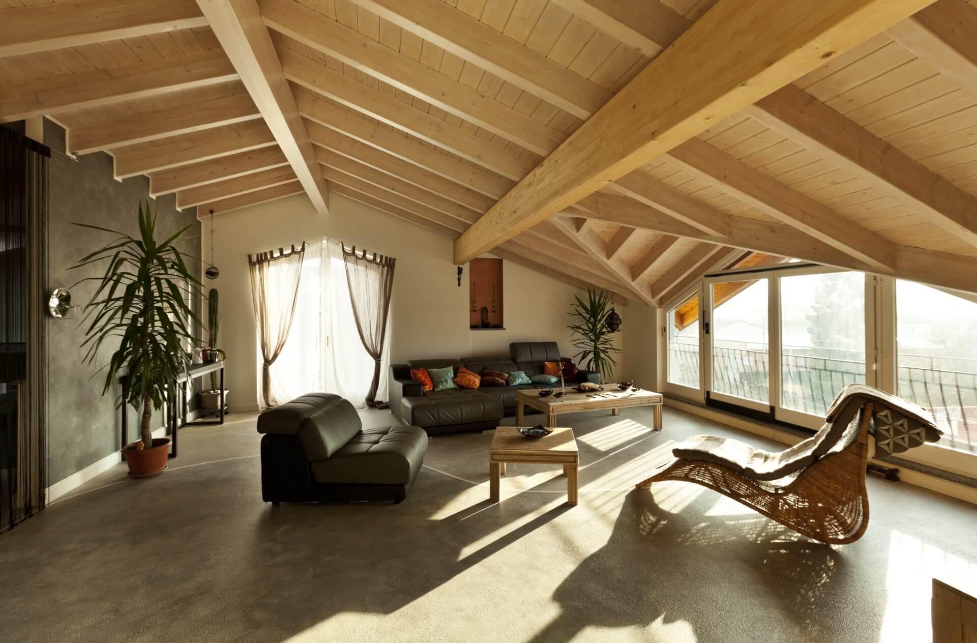 Inneneinrichtung Dachgeschoss offen und modern