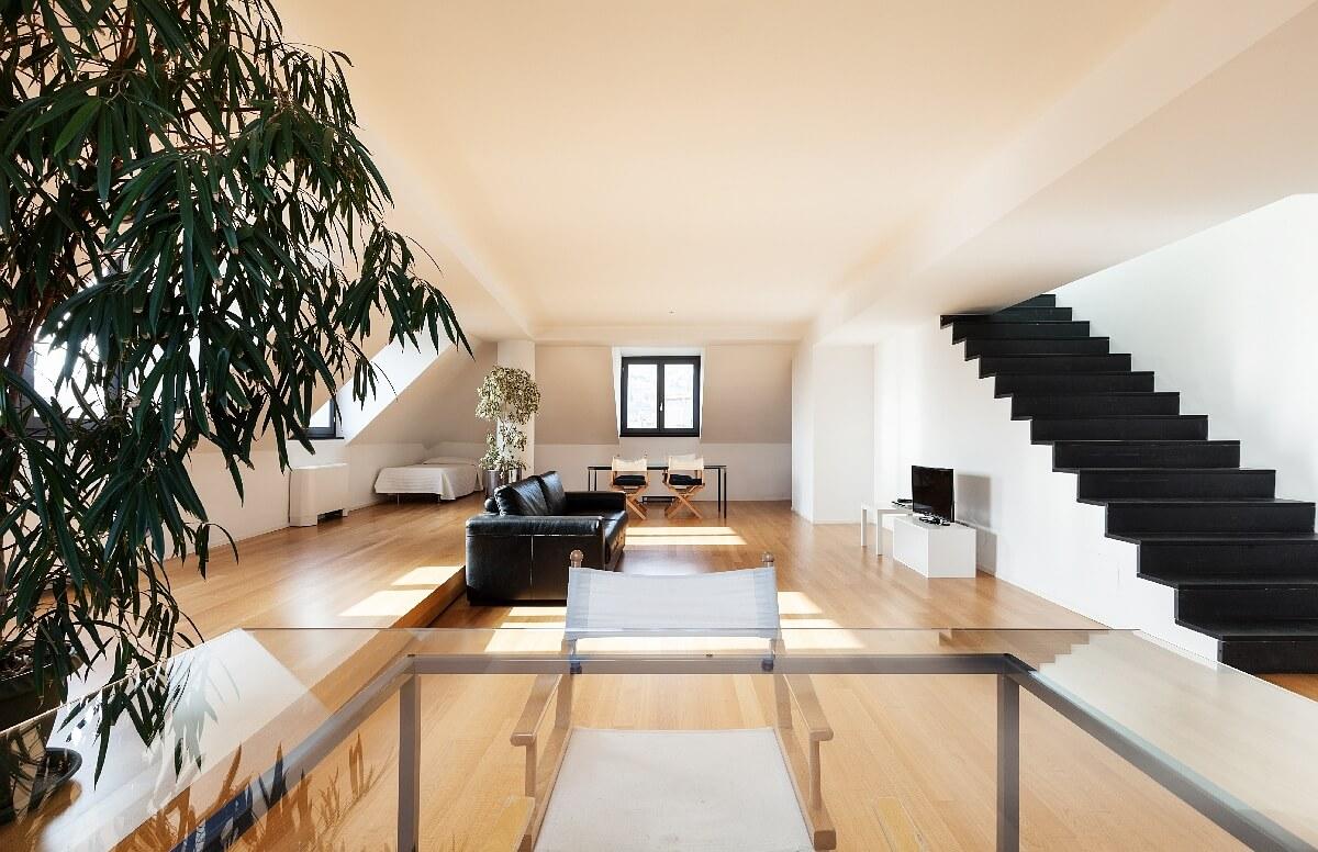 Moderner Hausbau Innenansicht